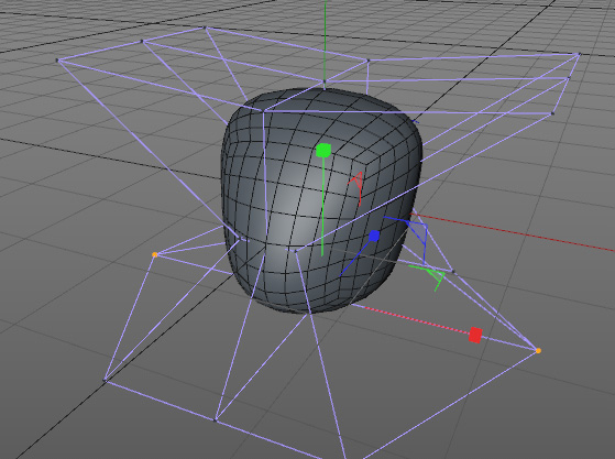 Aplicando las deformaciones al objeto.